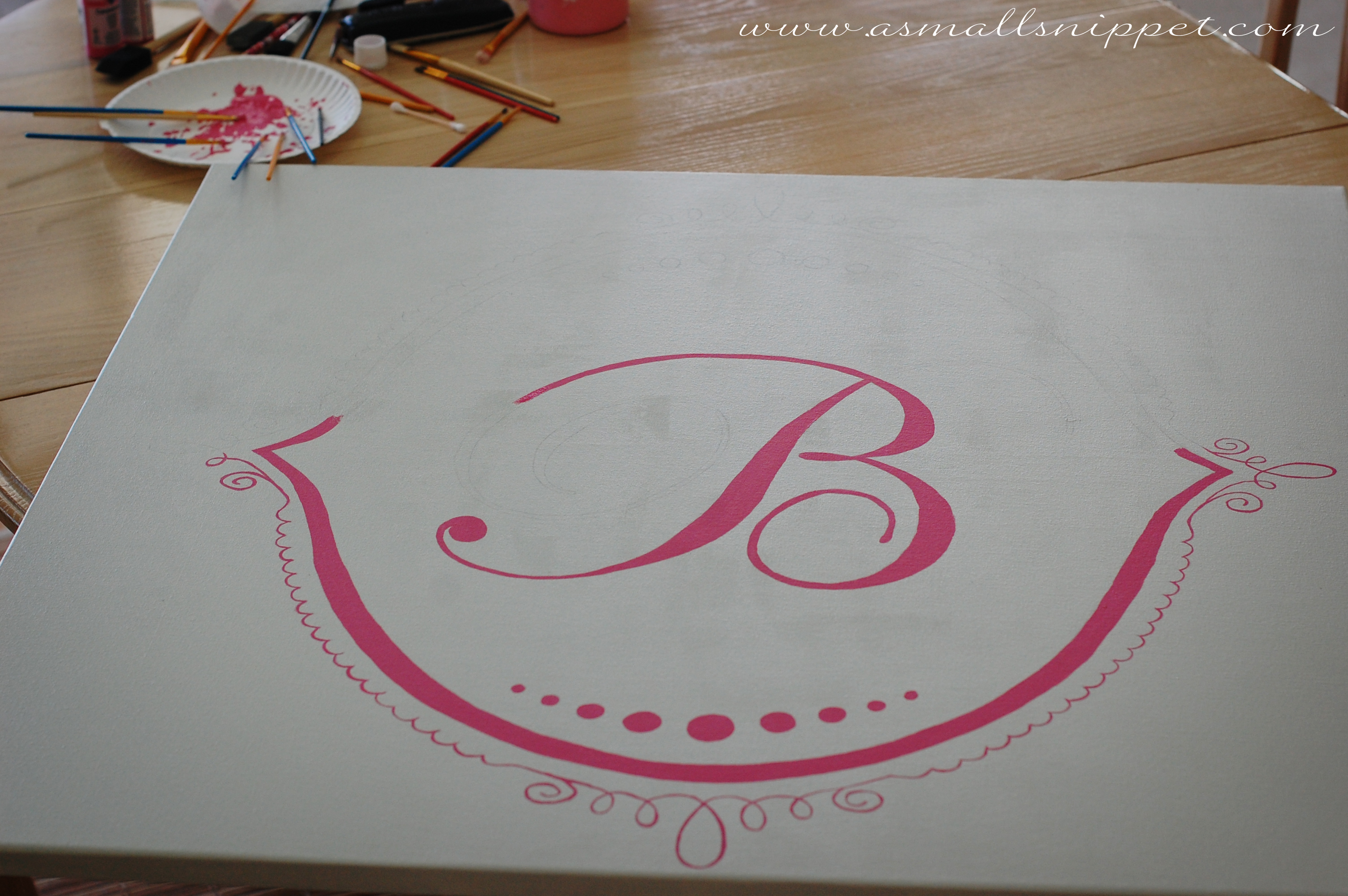 Easy DIY Handpainted Canvas