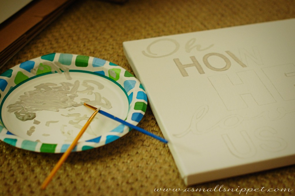 Easy Diy Handpainted Canvas A Small Snippet
