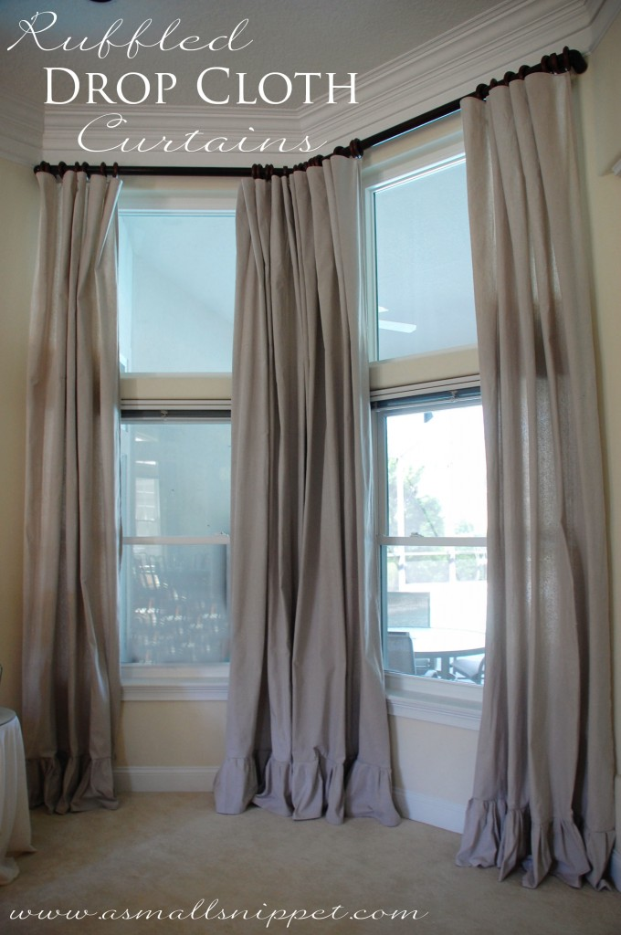 Ruffled drop cloth curtains a small snippet