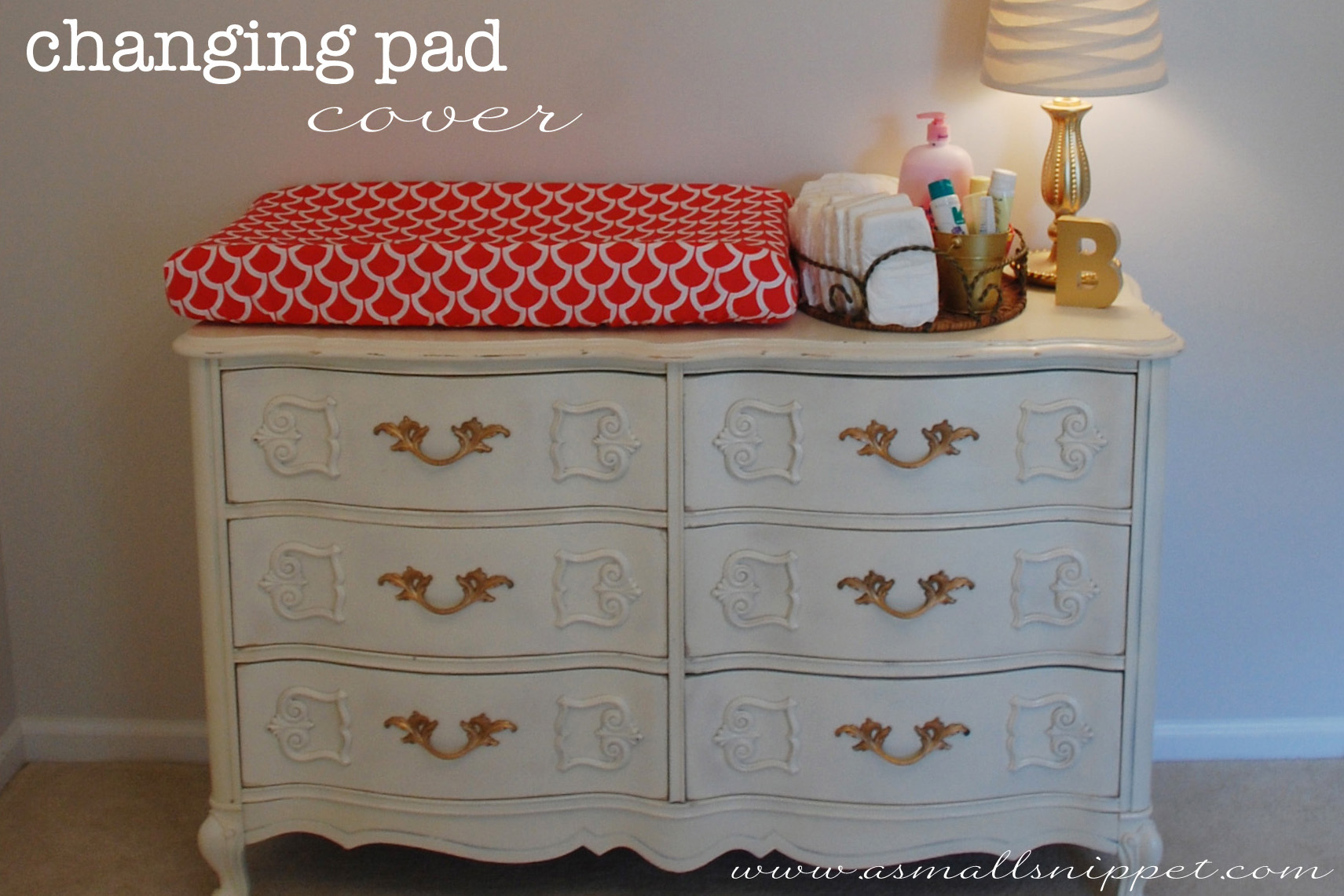 Image of: Diy Changing Pad Cover A Small Snippet