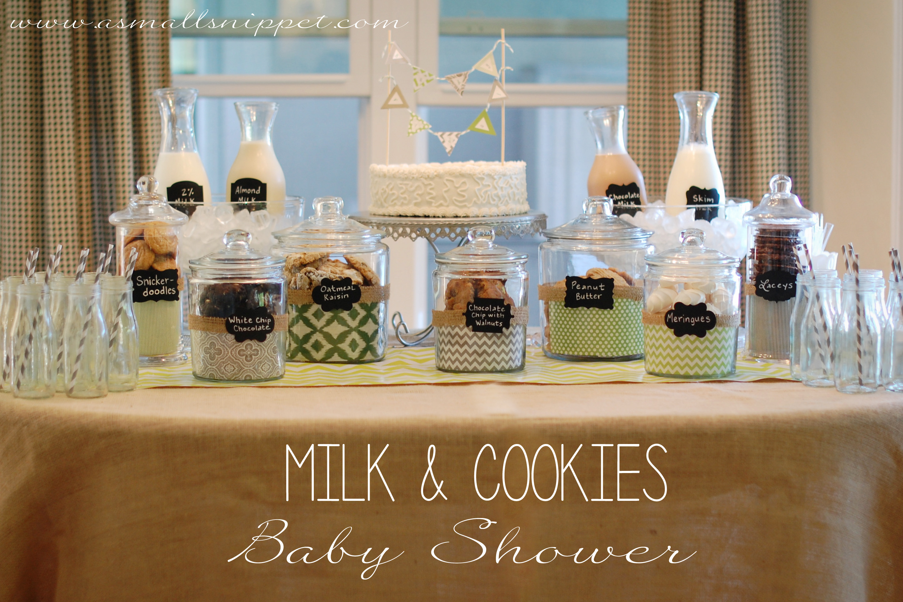 neutral shower a milk cookies shower was the perfect theme