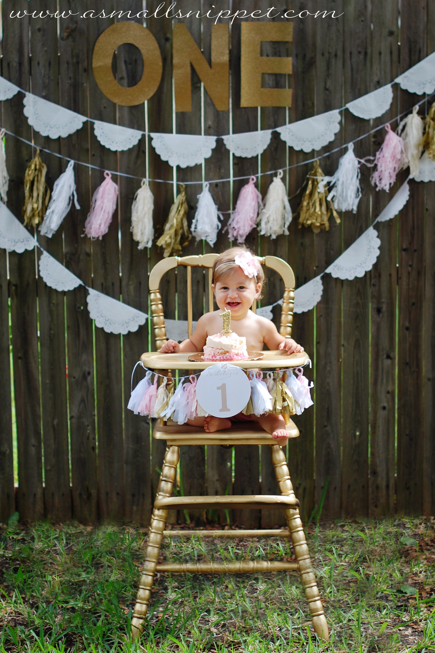 Pink And Gold First Birthday Party A Small Snippet
