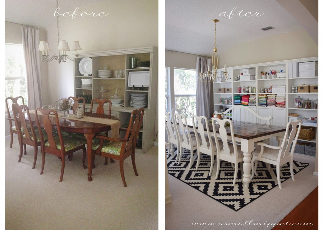 Dining Room Makeover Featuring Ikea Faux Built Ins A