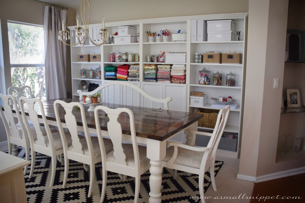 Dining room makeover featuring ikea faux built ins a small snippet - Dining room built ins ...